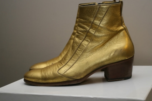 Dior Homme gold boots