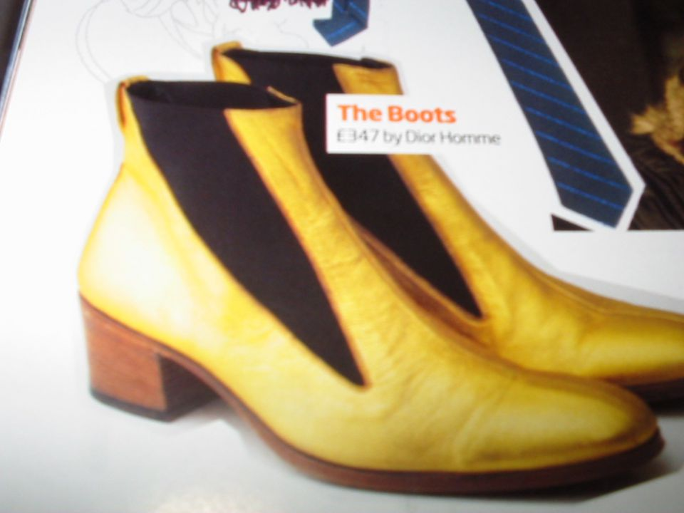 Dior gold boots with elastic