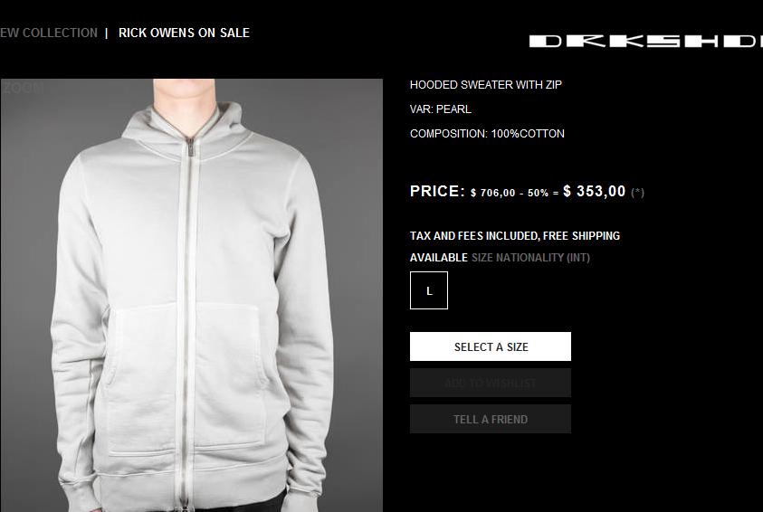 DRKSHDW hoodie