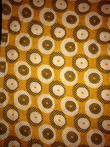 Gold wax print from Ivory Coast