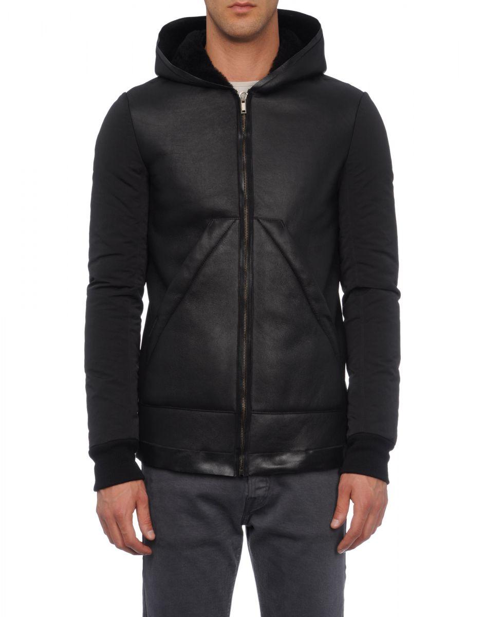 BNWT Rick Owens Hooded Leather Jackets for sale. EU50 and EU52