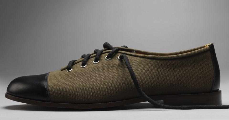 Modern English - handmade canvas shoe (Green)