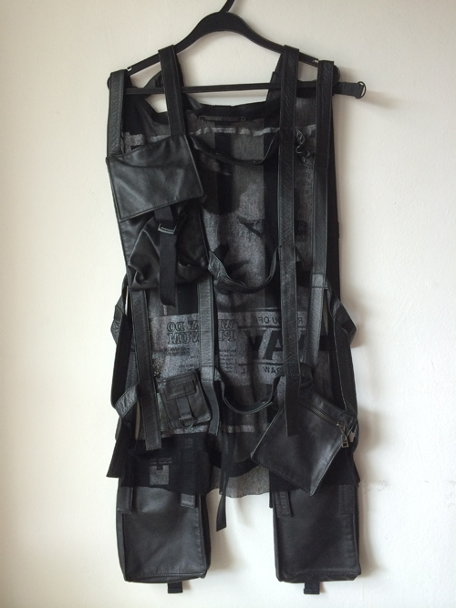 EXCELLENT CONDITION RAF SIMONS SS2003 MILITARY LEATHER HARNESS FOR SALE SIZE OS
