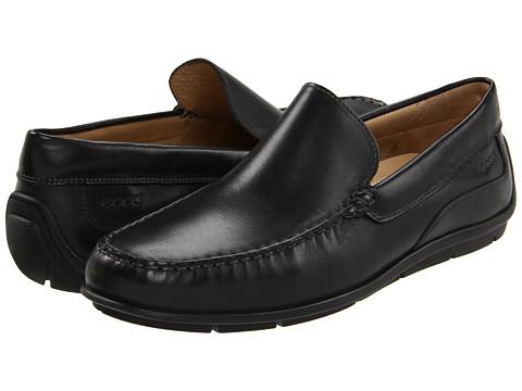 ecco classic Moc black leather