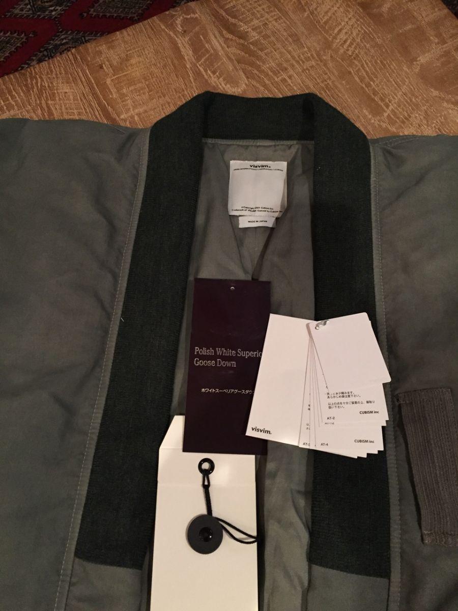 Visvim Sanjuro Kimono Down Jacket Size 3 for Sale