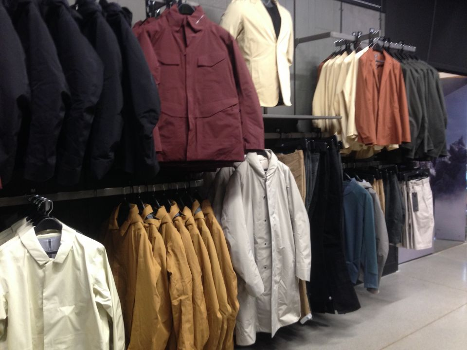 Arcteryx Store Veilance section