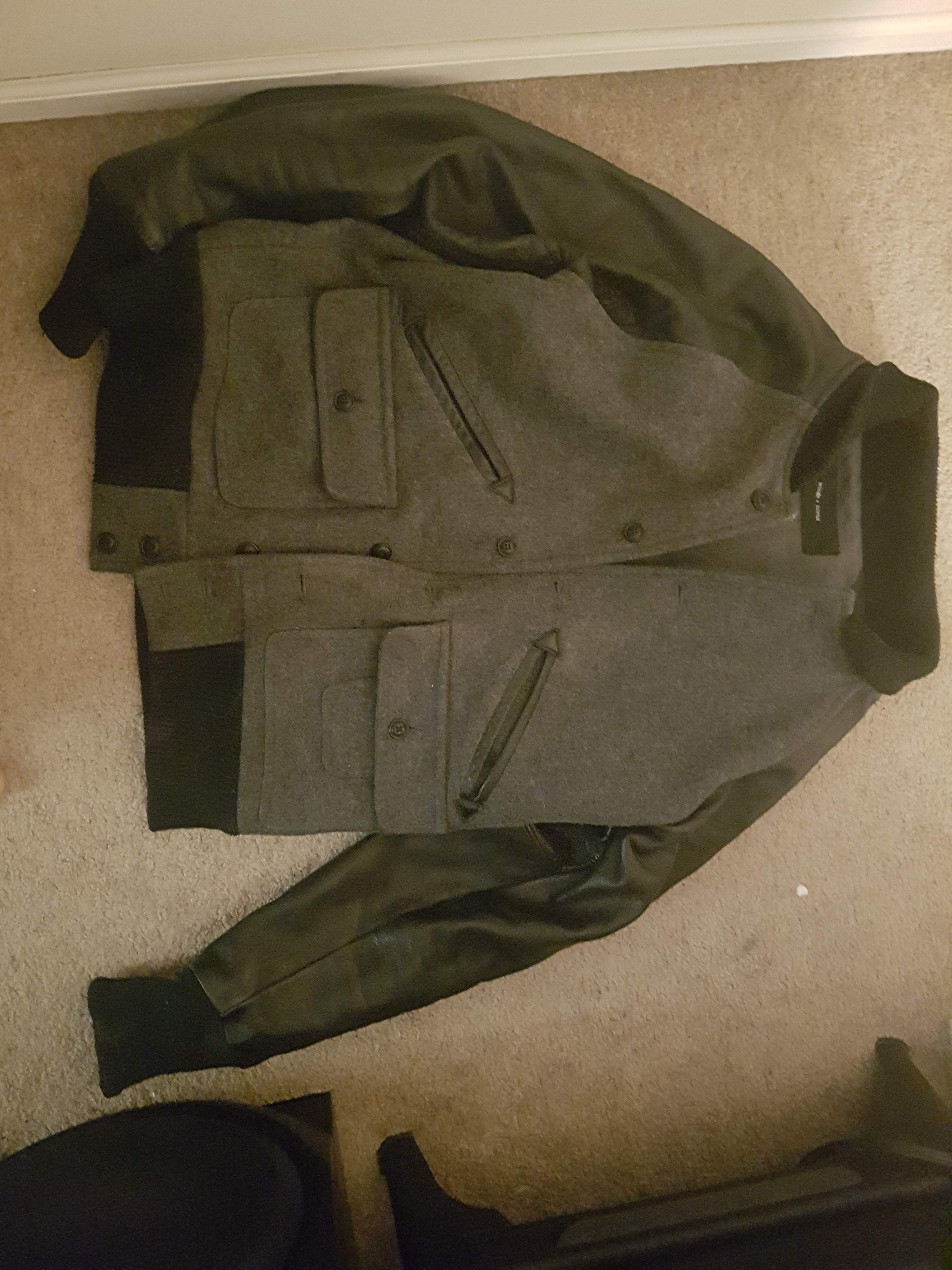 Wings and Horns Leather/Wool bomber style