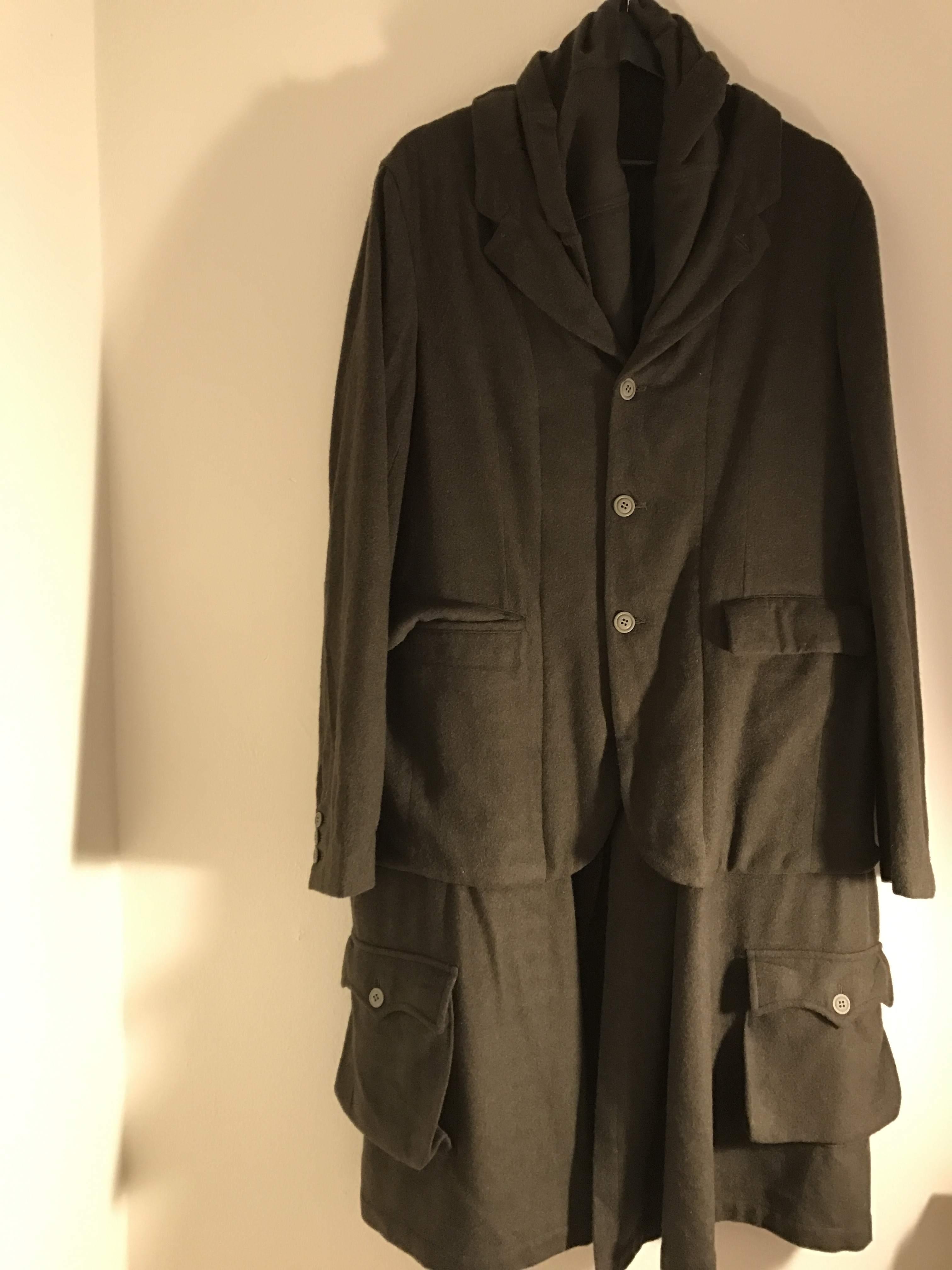 CDG BLACK Layered Overcoat