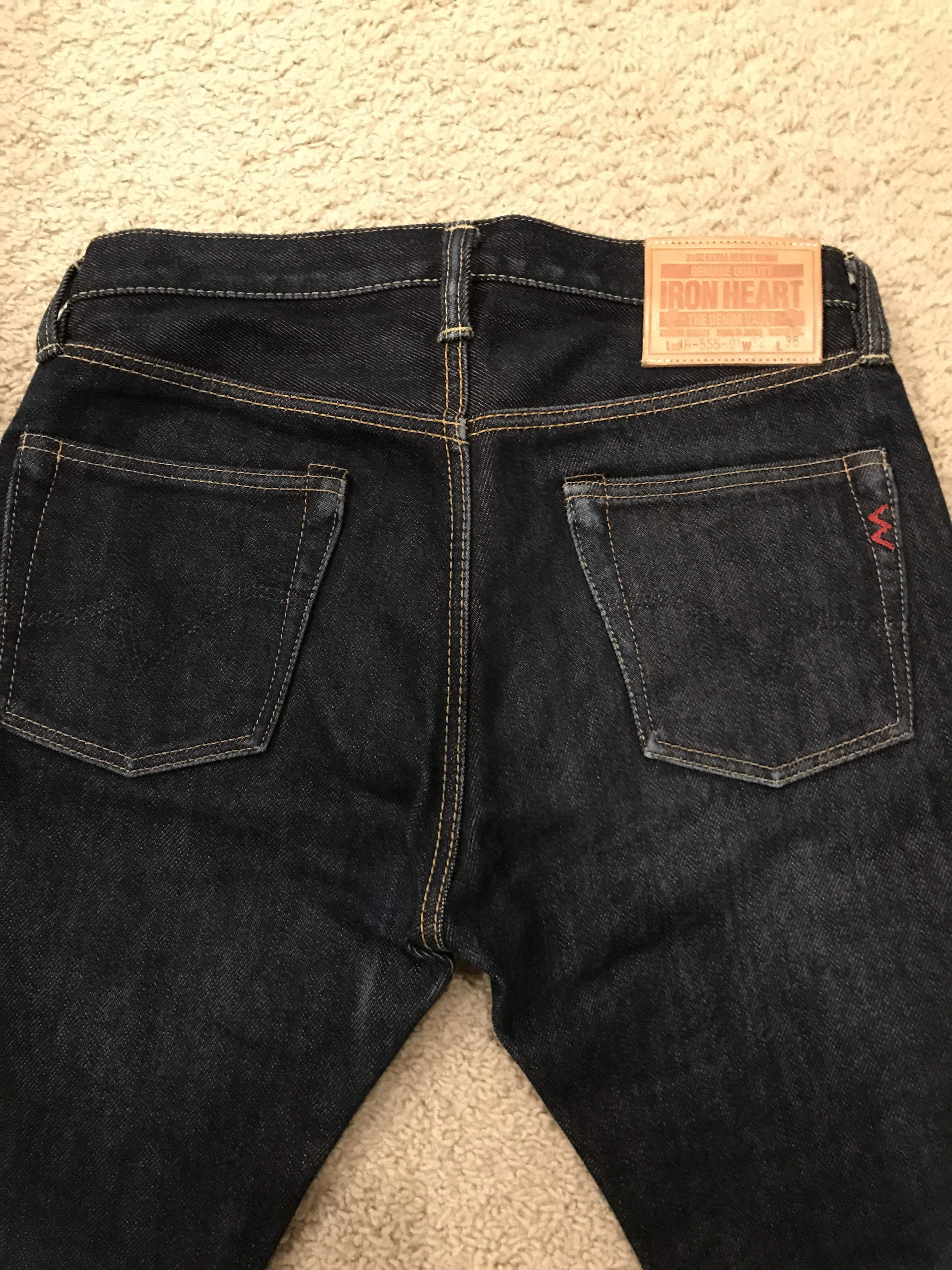 Iron Heart 555-01 32x36 (IH-555-01) 21 oz (3 month wear) unhemmed