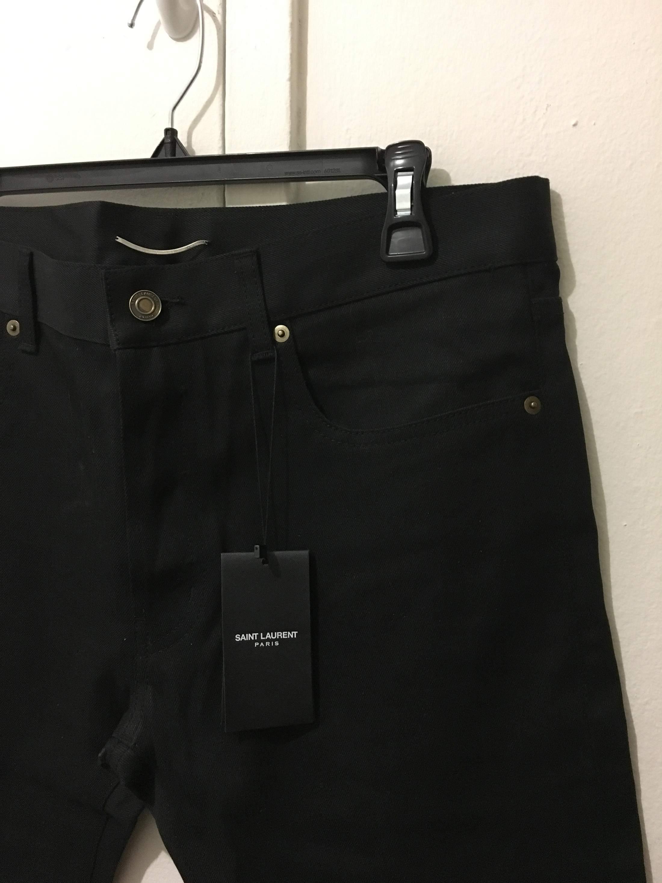New Saint Laurent Paris 2013 Black Jeans