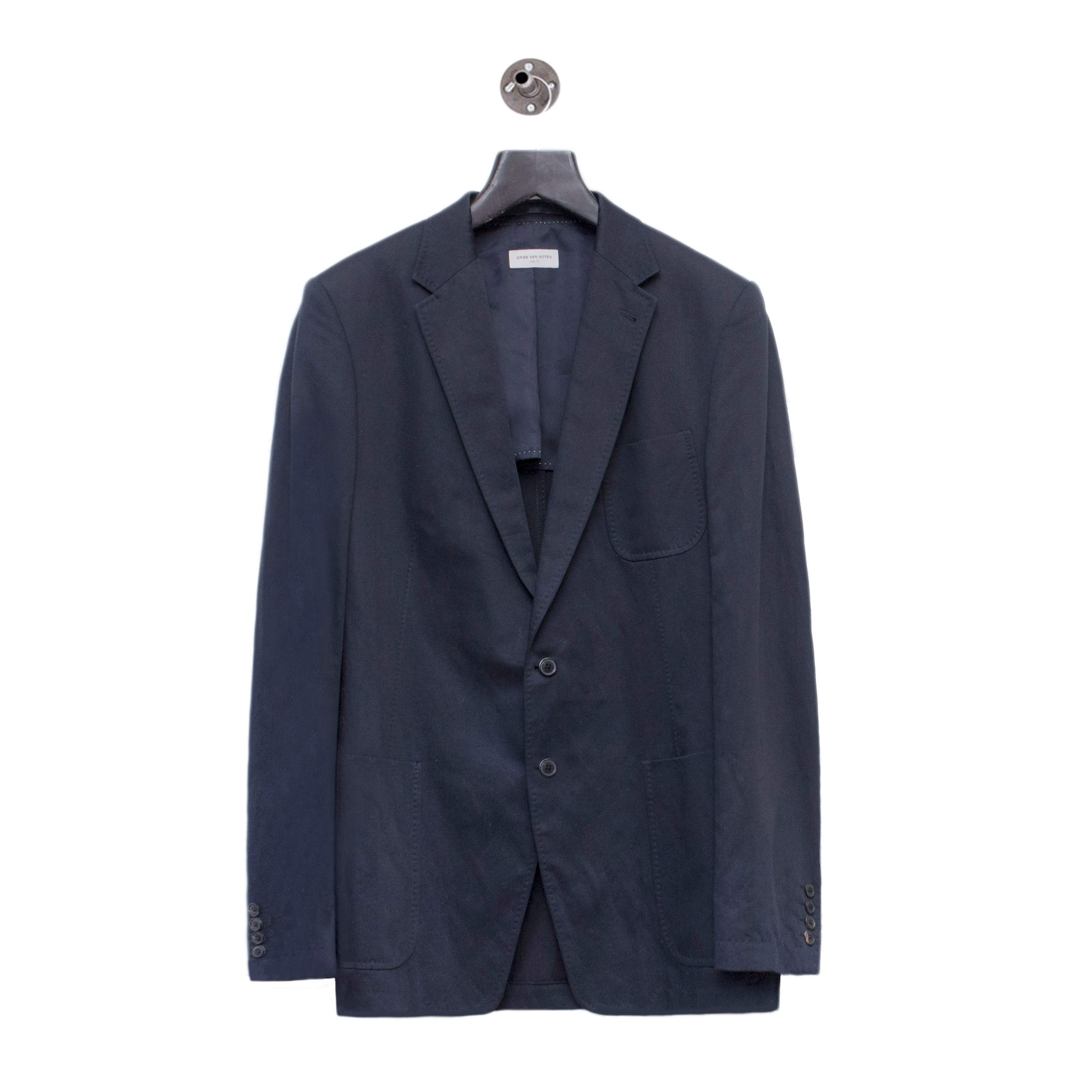 Dries Van Noten dark navy blazer