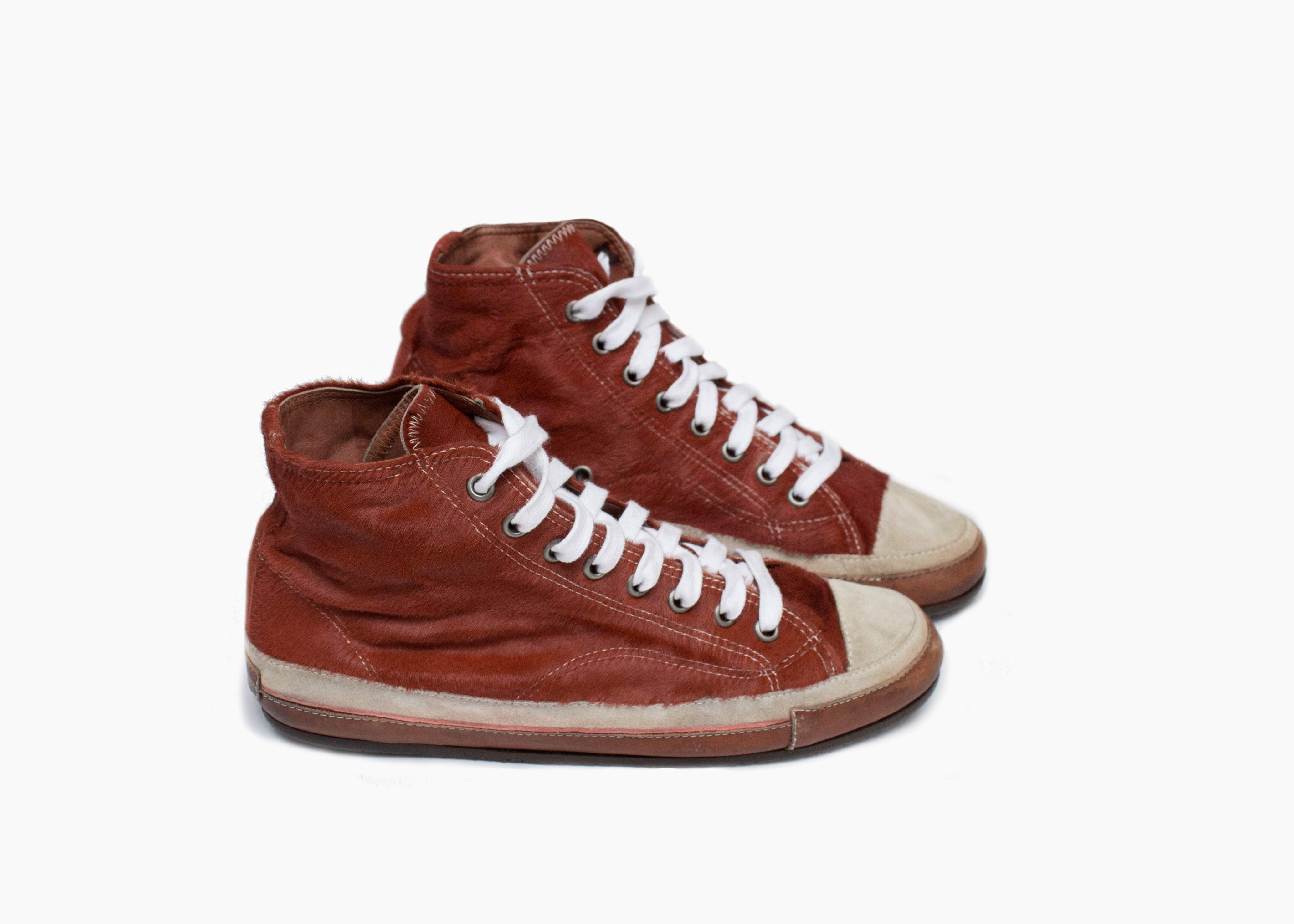 99baefd1acb Dries Van Noten horse hair high-top sneakers - supermarket - supertalk