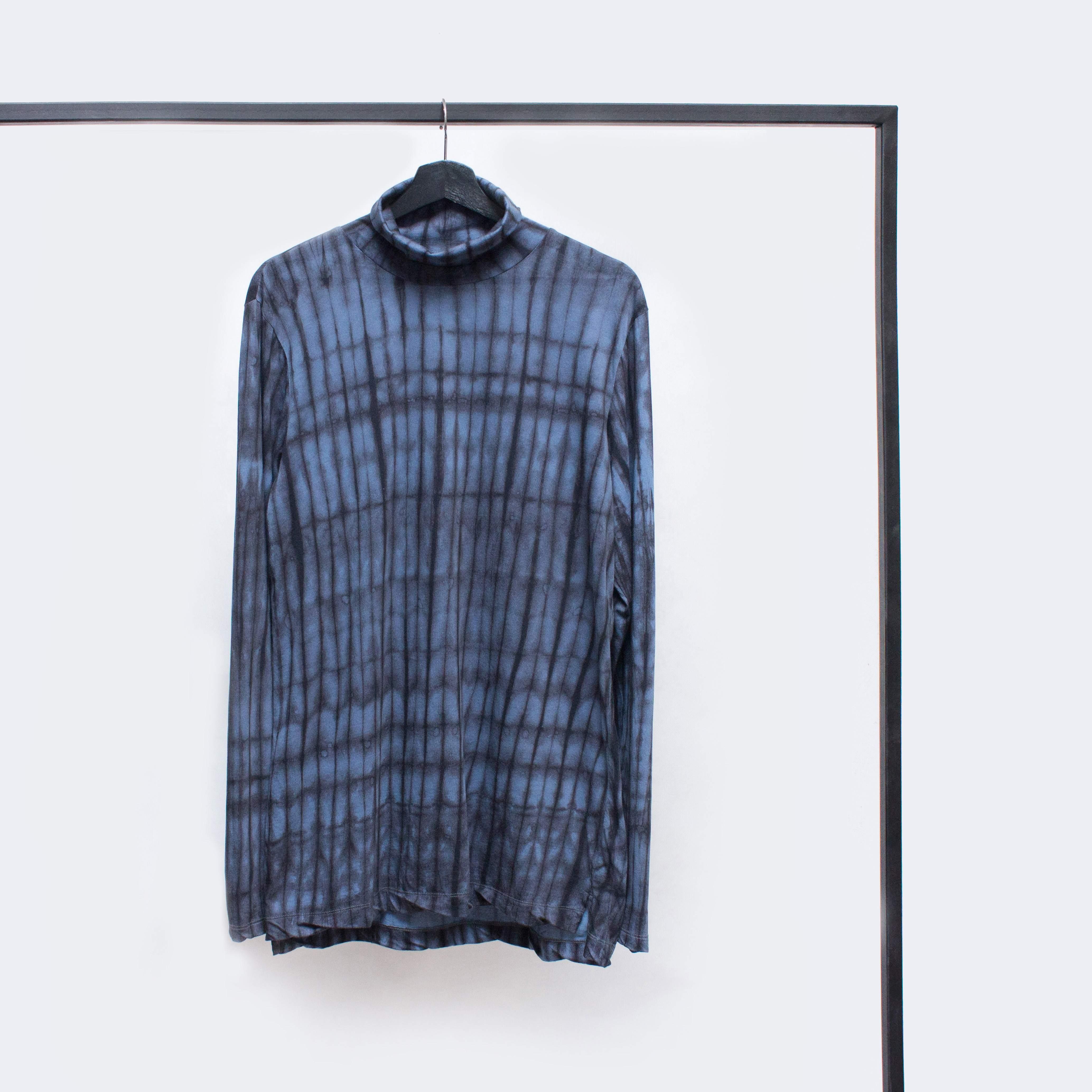 Dries Van Noten AW'14 tie-dyed oversized roll neck long sleeve