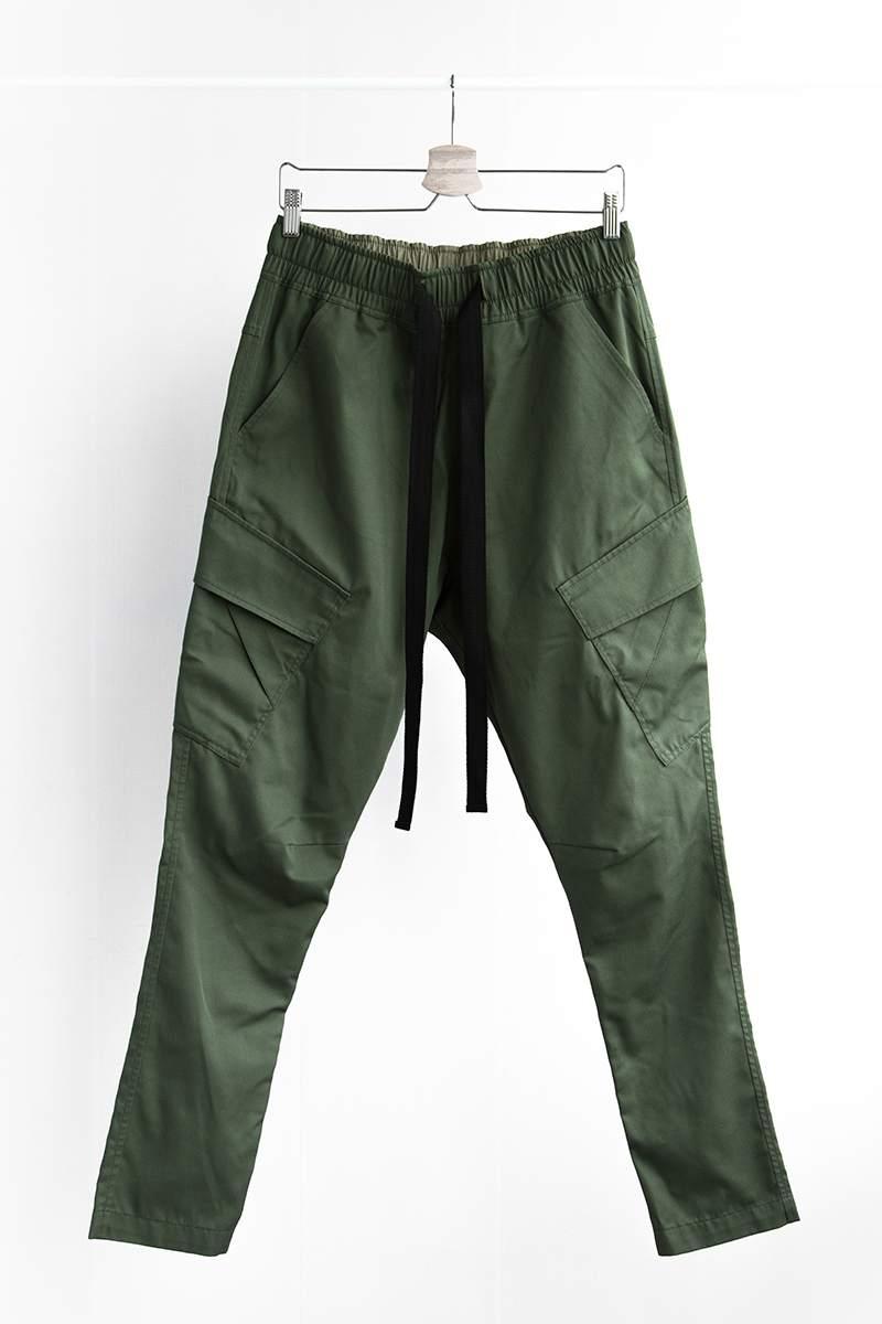 Handmade Drop crotch Cargo Pants 'Green'