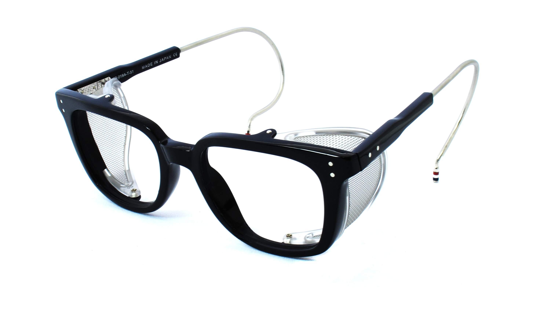 Thom Browne TB-018 Glasses - Black/Matte Silver