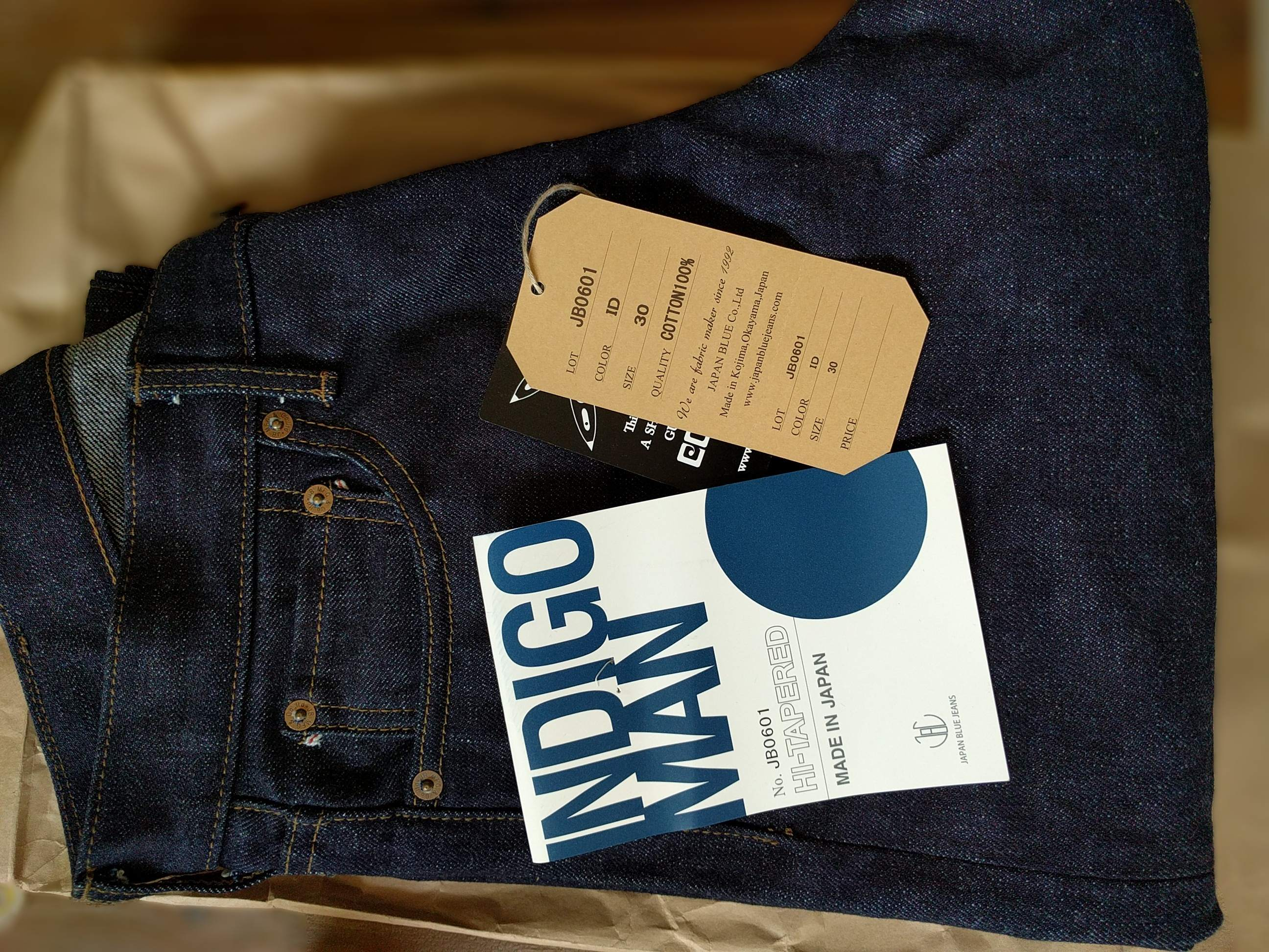 Japan Blue Jeans JB0601 High Tapered SZ 30