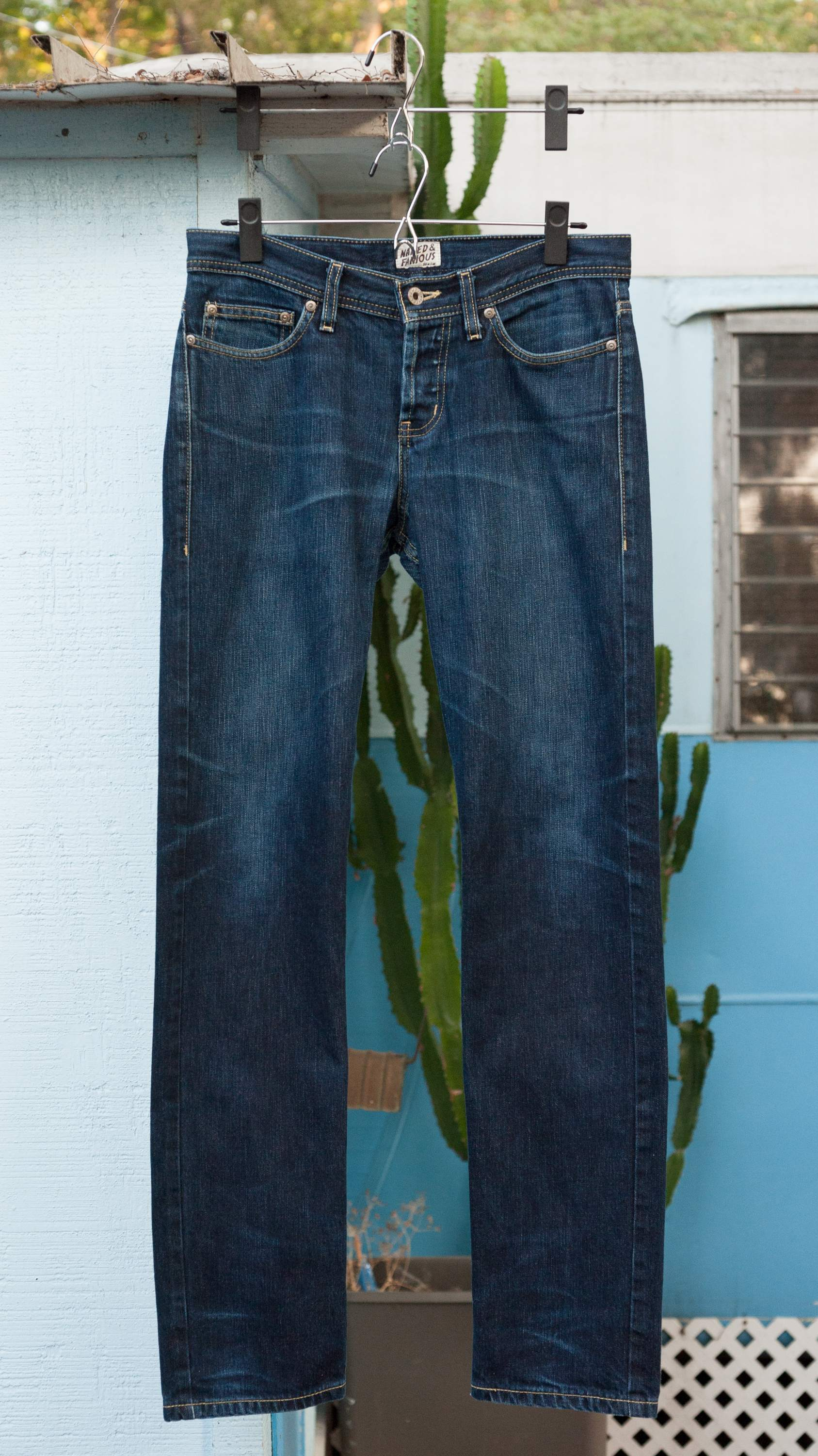 """Naked and Famous Weird Guy RHT non-selvedge, 31"""" measured waist, used"""