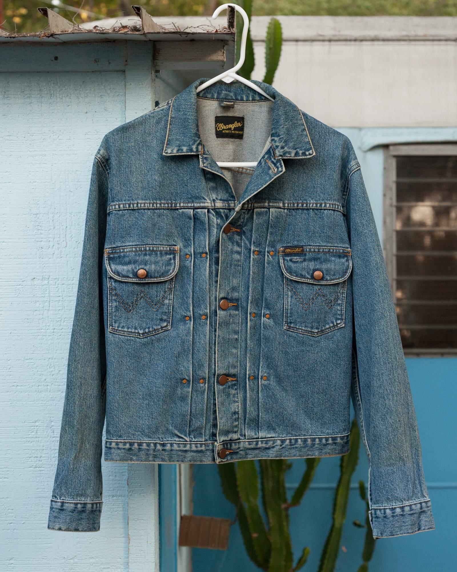 """Wrangler 11MJ double-pleated jacket, UK, medium (42"""" chest)"""