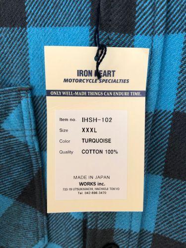 d016c1745e Iron Heart IHSH-102-TG (Turquoise Grey Ultra Heavy Buffalo Check Work Shirt)