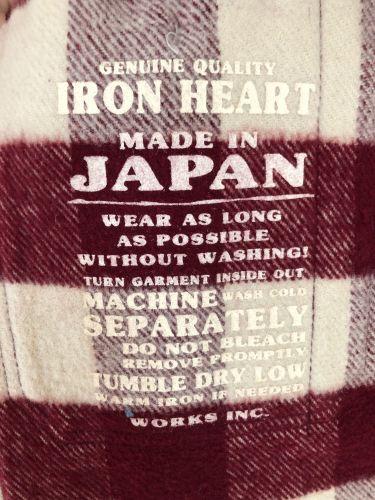 5dcbaf67e5 Iron Heart IHSH-102-MC (Maroon Cream Ultra Heavy Buffalo Check Work Shirt)