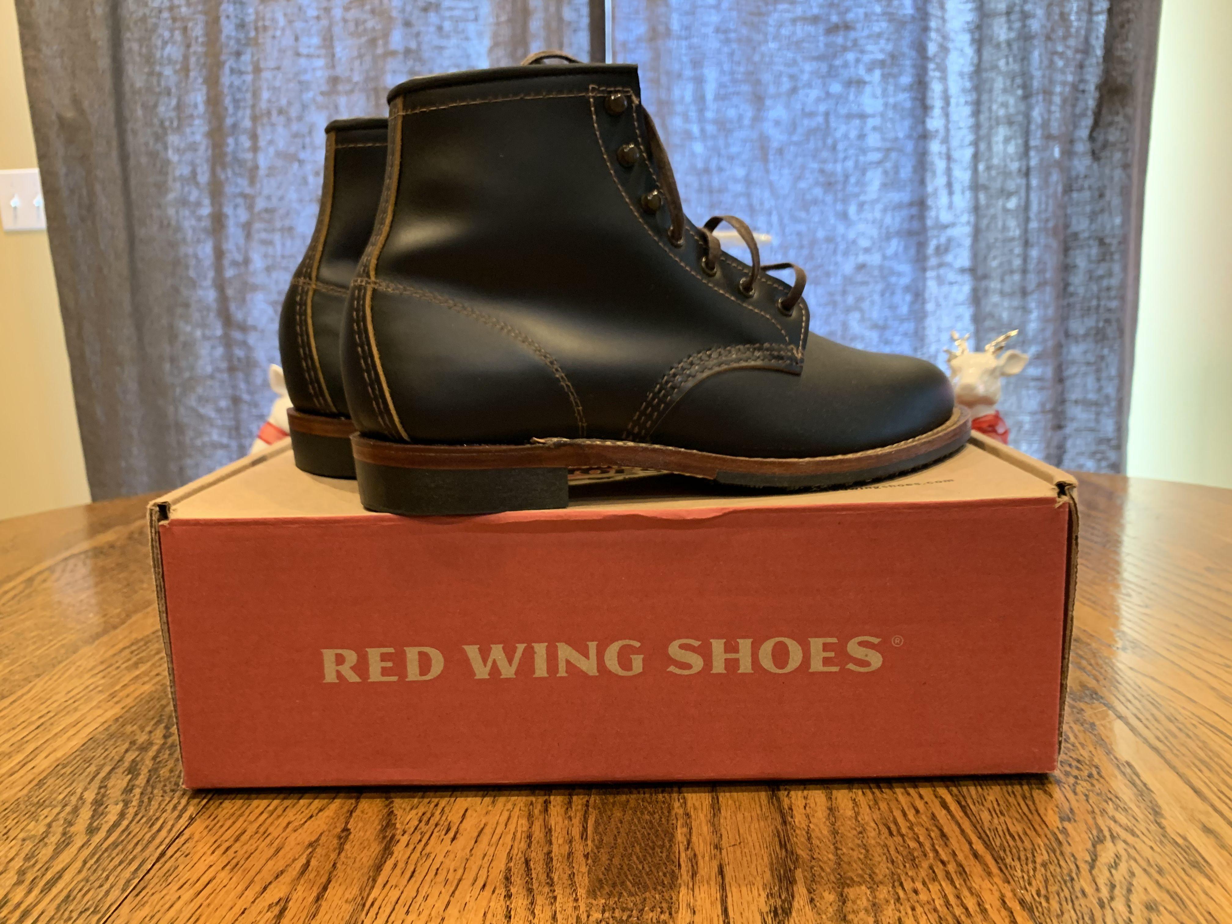 Red Wing Beckman-Black Klondike Size 7