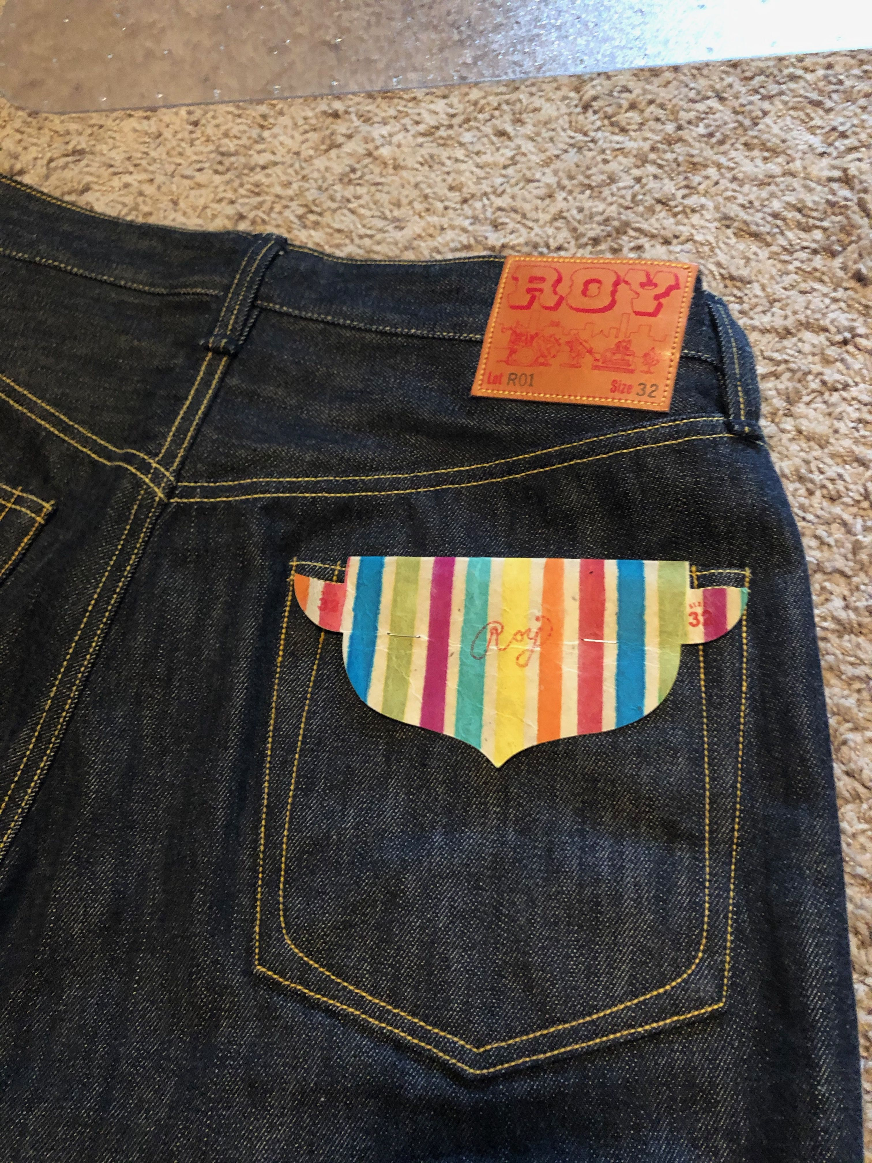 Roy Denim Very Nice Pocket Bag Jeans 32 unhemmed