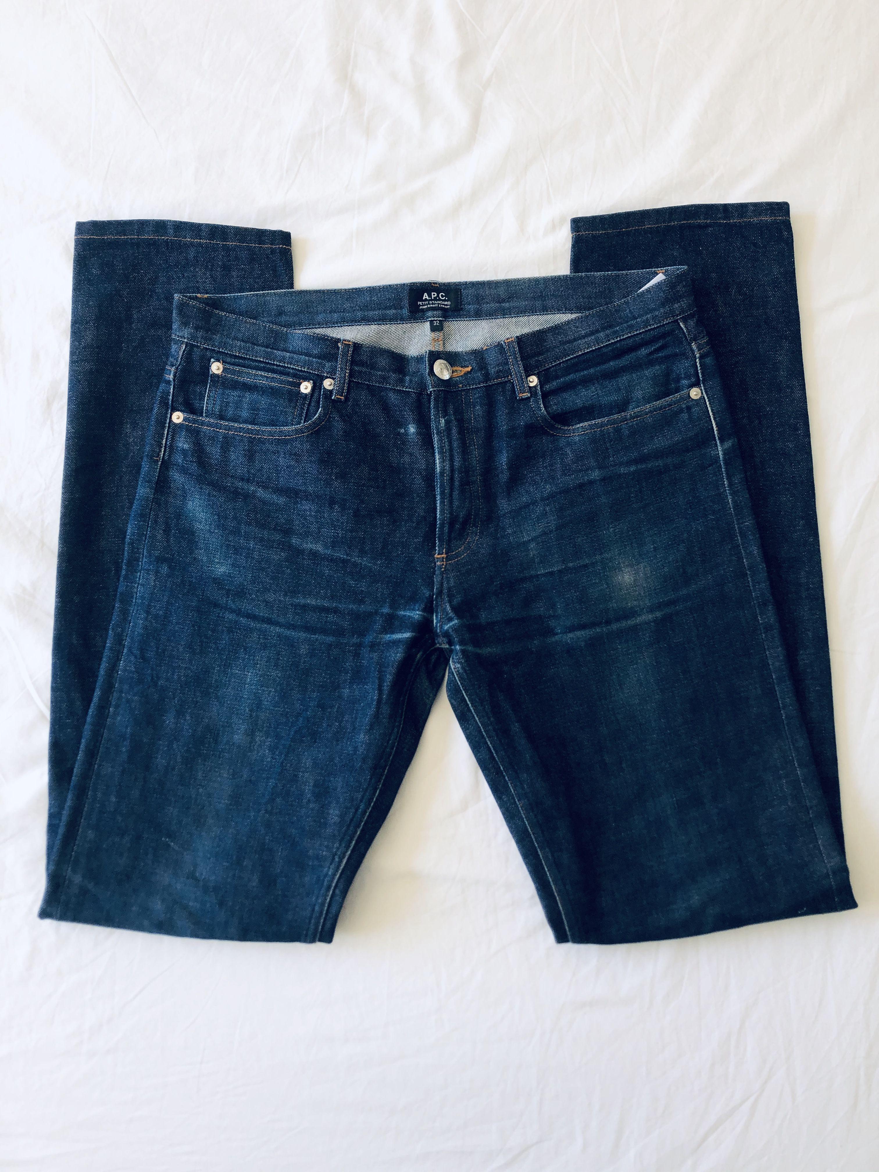 APC Petit Standard Raw Indigo Denim Jeans 32