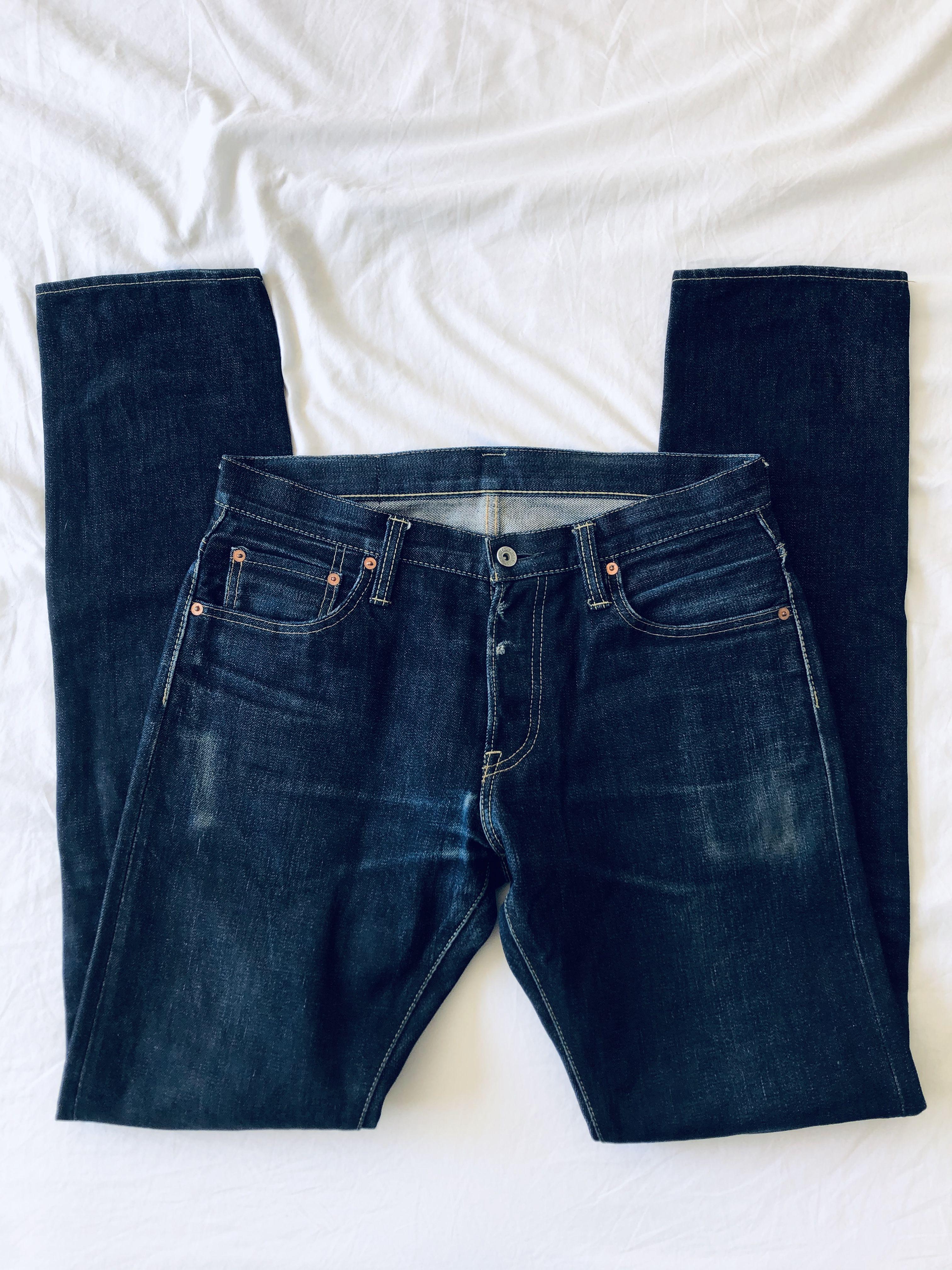 Iron Heart 301s-14 Raw Indigo Denim Jeans 32/36